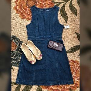 GAP Denim Sleeveless Fit & Flare Dress